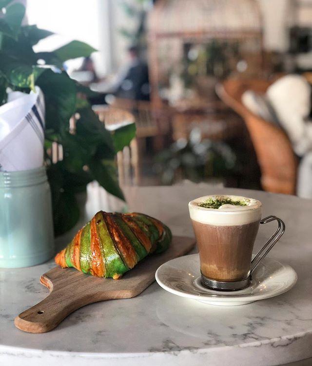 ☘️Irish Coffee & Pistachio Croissants All this week! #maisonmarcel #stpatricksday