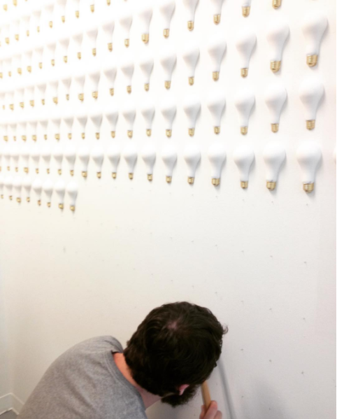 Installation of the bulbs.