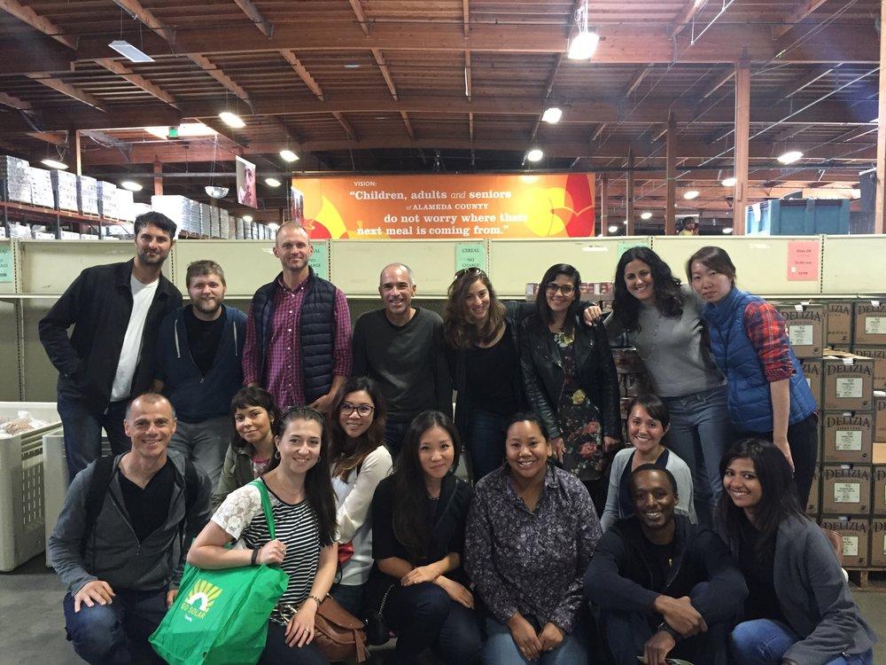Volunteering at Alameda County Food Bank