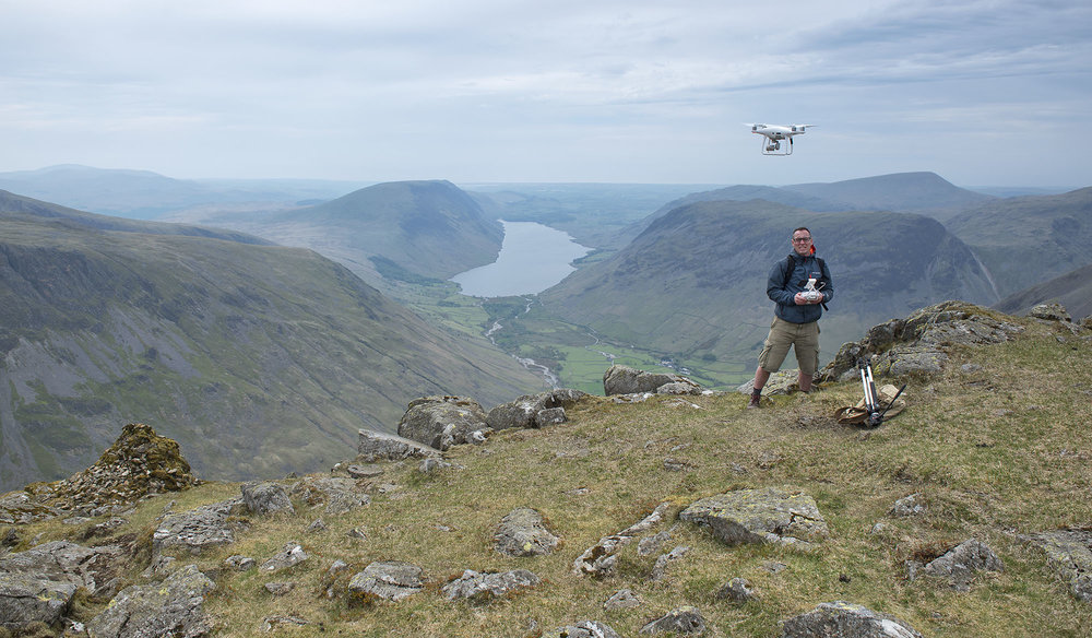 Drone Take-Off at Westmorland Cairn, Great Gable ds.jpg