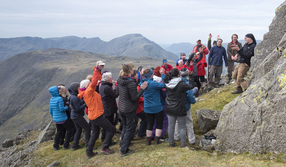 Singing on Great Gable, Pillar in the Background ds.jpg
