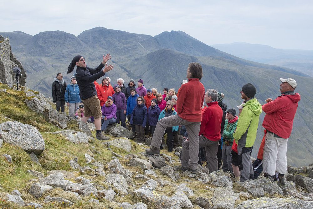 Singing on Great Gable, Scafell Pike in the Background ds.jpg