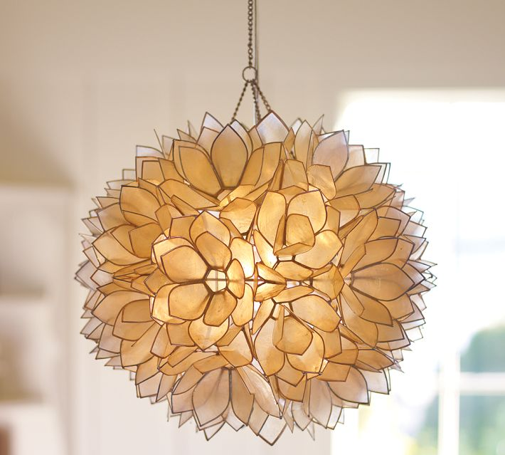 Pottery Barn Capiz Shell Light