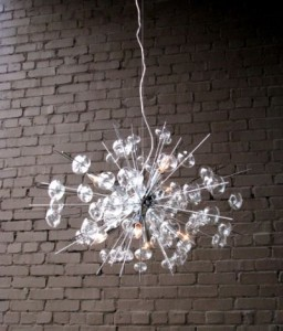 Bubbles glass chandelier