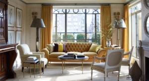 Stephen Sills Manhattan Living Room as shown in Elle Decor