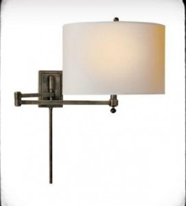 swing arm wall sconces — radiant room