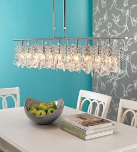 clear crystal chrome chandelierjpg - Dining Room Crystal Lighting