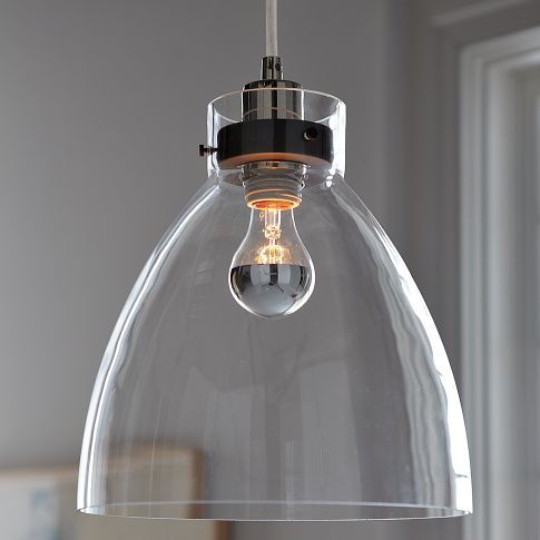 Industrial Glass Pendant ~$109