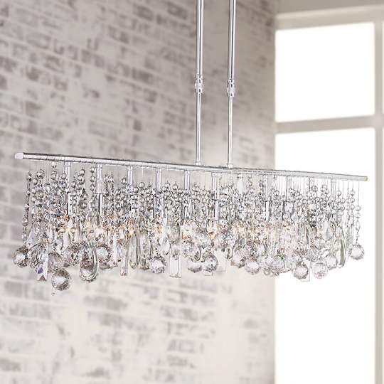 Chrome Chandelier with Clear Crystals ~$699