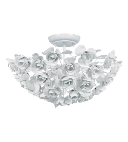 White Semi-Flush Ceiling Light ~$229