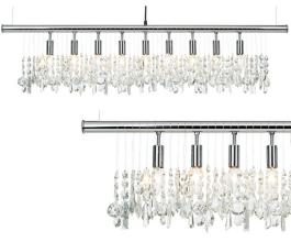 Broadway Crystal Bar Chandelier ~$516