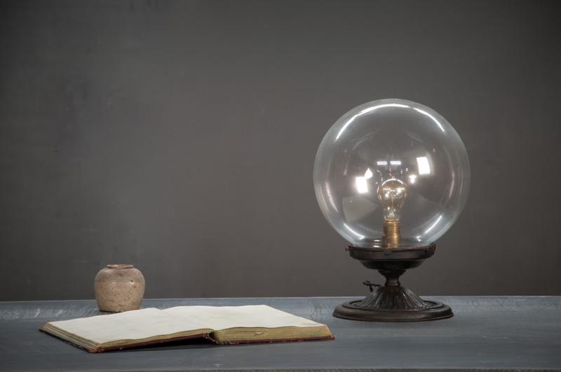 Glass Globe Vintage Desk Lamp