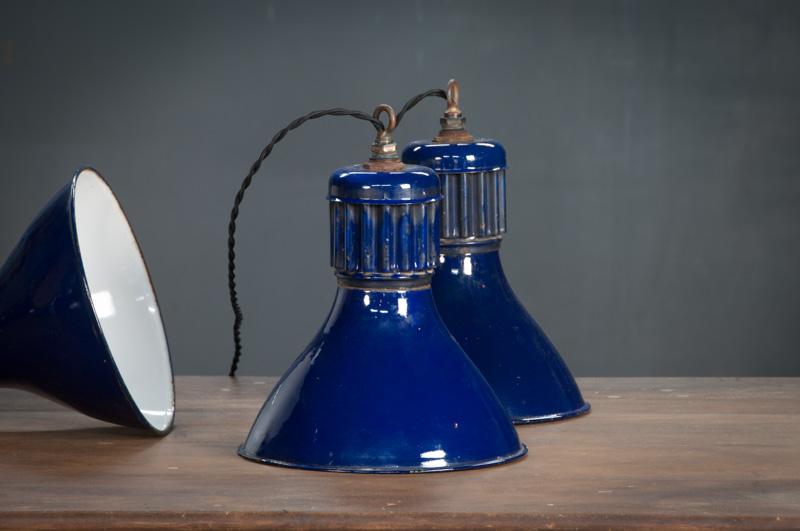 Cobalt Blue Vintage Pendant Lights