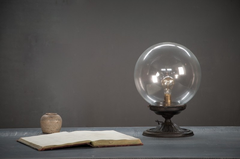 Glass Globe Vintage Desk Lamp