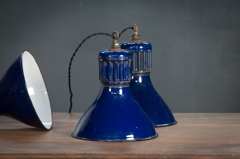 Cobalt Blue Vintage Pendant Lights