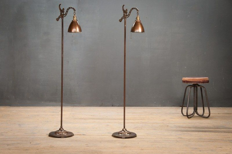 Vintage Metal Floor Lamp