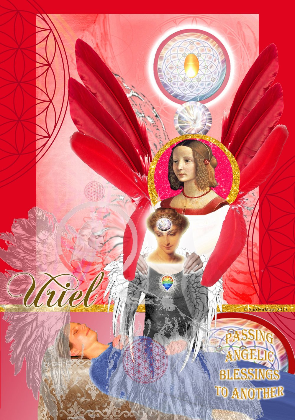 Learn to work with angels so they touch you  - AND the touch goes through into the healing recipient.  It's a REAL thing!!!