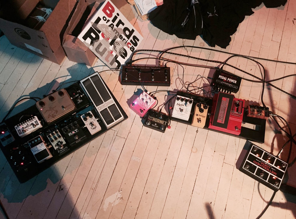 Anthony Pirog's Pedalboard. Photo: Aaron Rogers