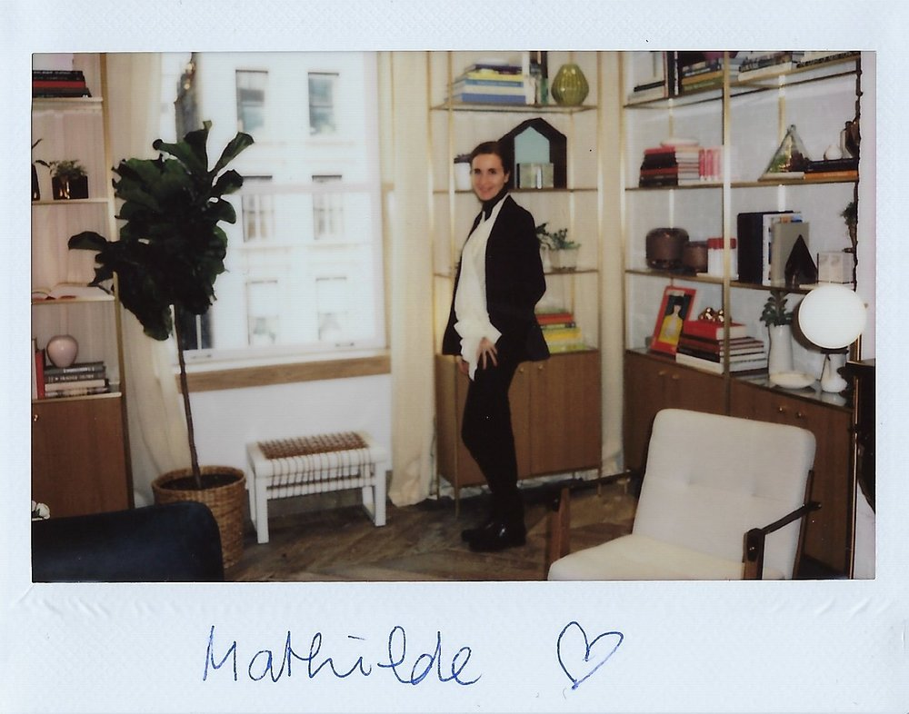 Mathilde Thomas in L'Appartement Caudalie in New York