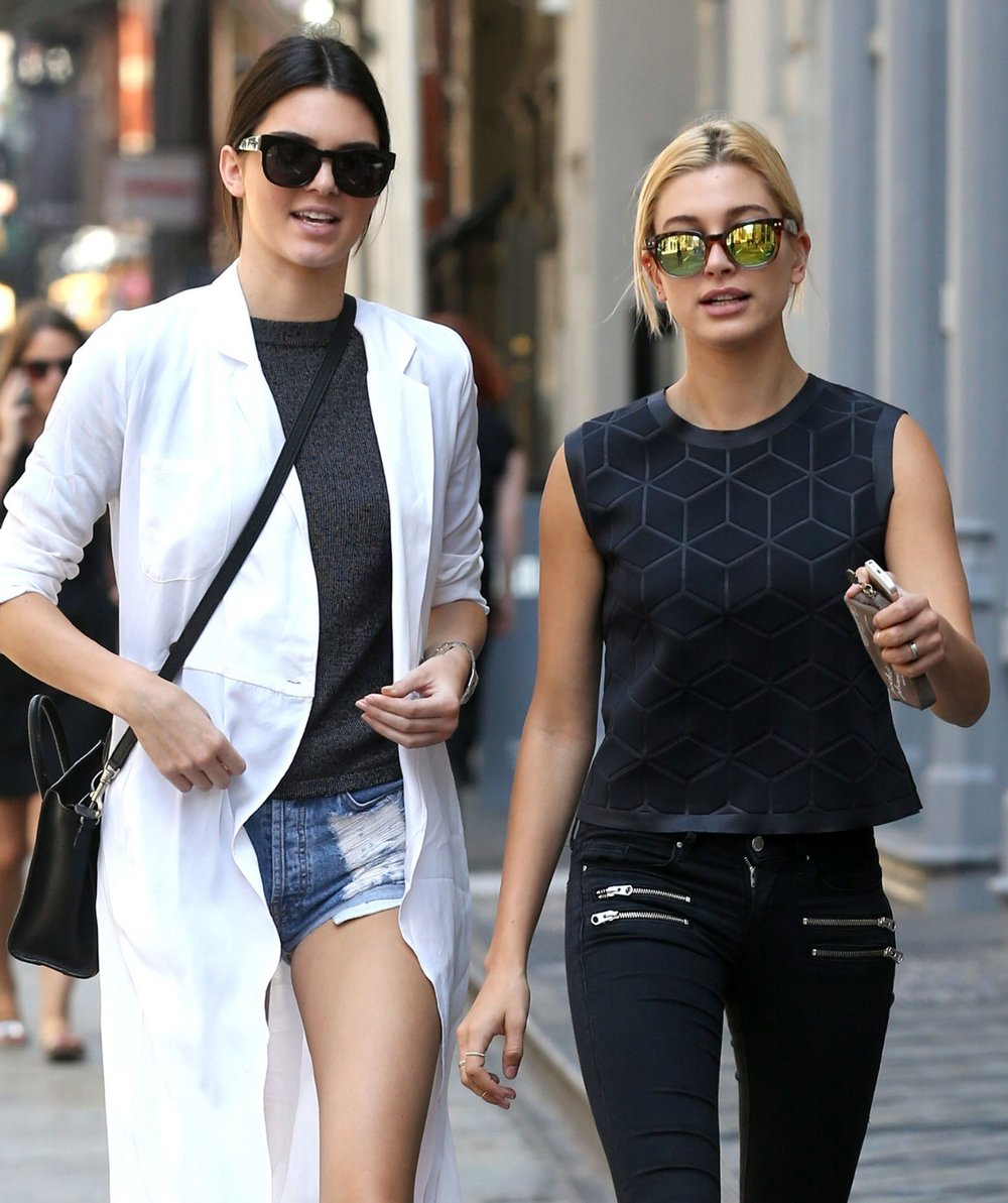 Hailey Baldwin totes Saje Pocket Pharmacy with Kendall Jenner in New York