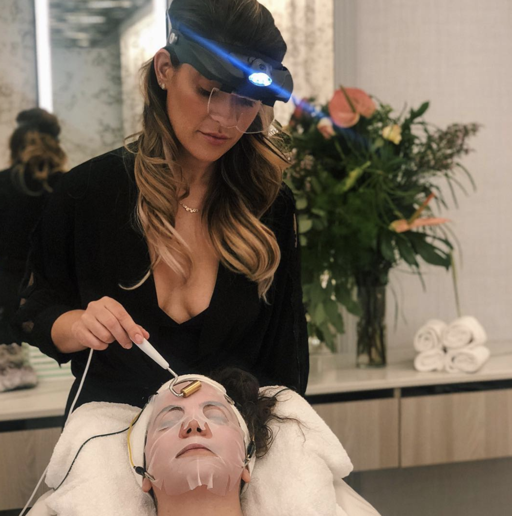 This is not Jill, but it is Victoria delivering a facial in her swanky studio
