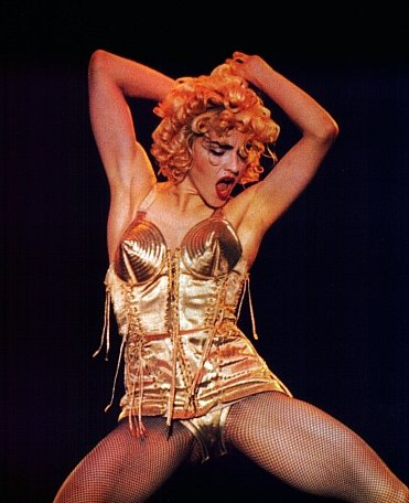 Madonna in M.A.C Russian Red Lipstick circa Blonde Ambition tour
