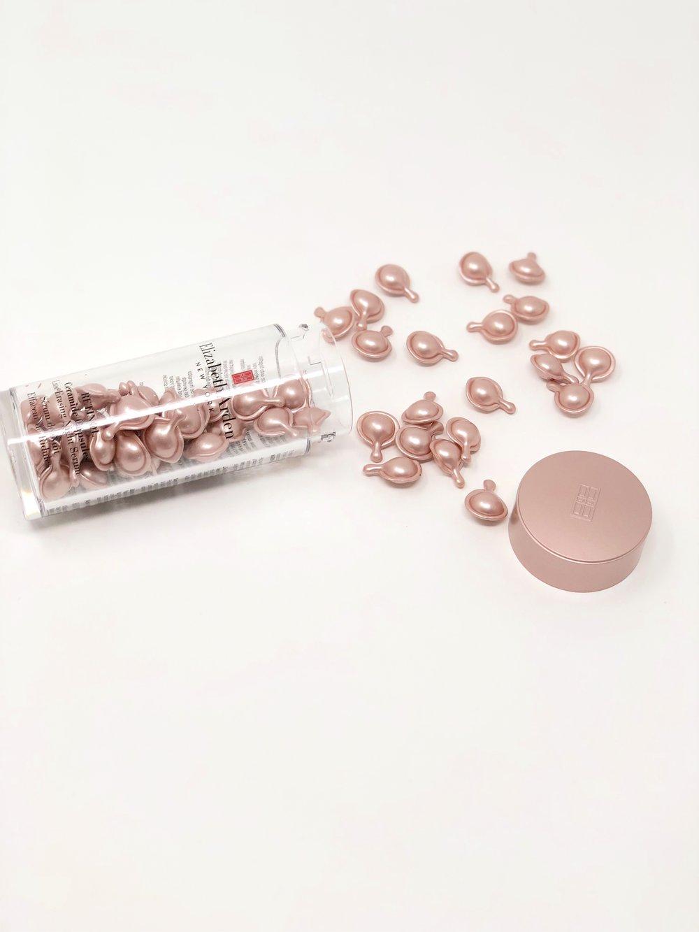 Rolling out onto store shelves now, Elizabeth Arden Retinol Ceramide Capsules Line Erasing Serum, $106 CN ($84 US)/ 60 capsules