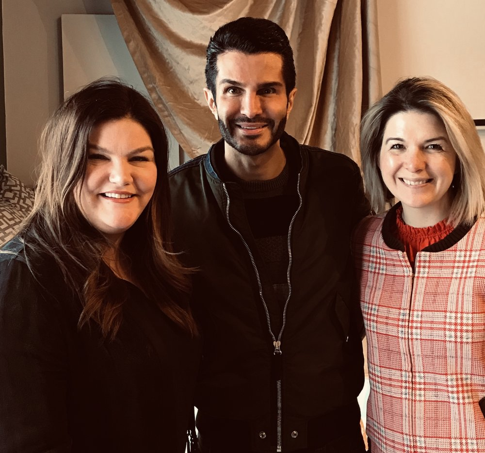 Jill Dunn and Carlene Higgins with Brandon Truaxe, Founder of Deciem & The Ordinary