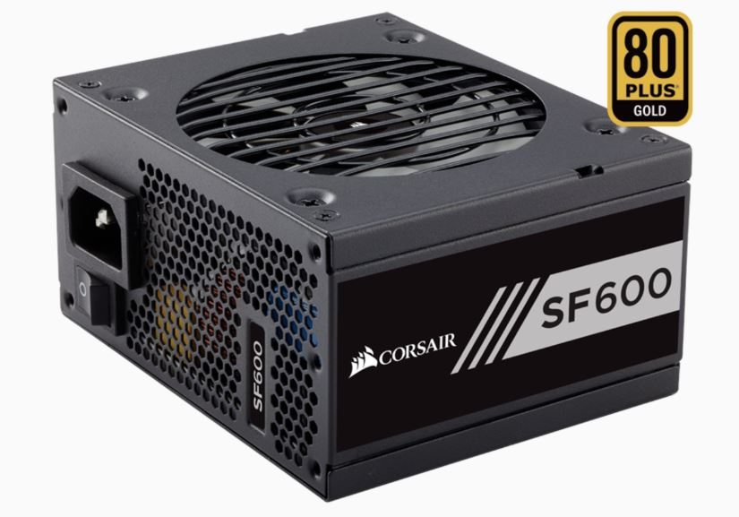 Corsair SF600 GOLD Rated power supply.JPG