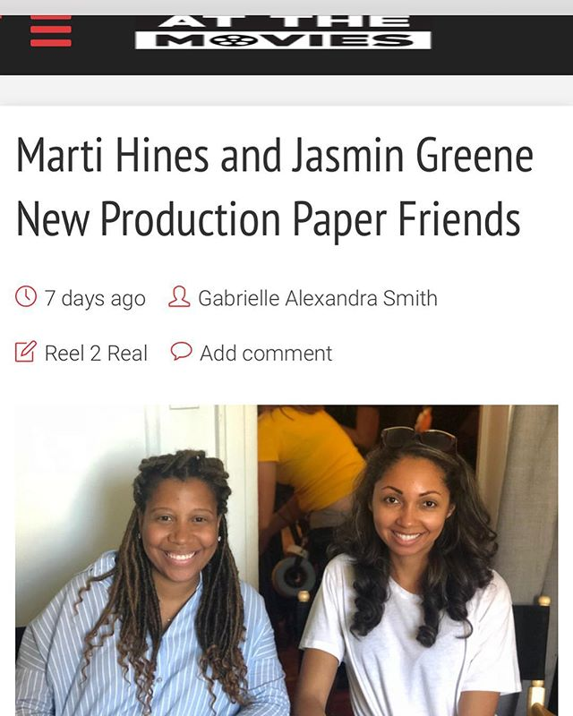 Check out our talented co directors @martiehines and @greenewithe in their interview with @_atthemovies_ #linkinbio #paperfriendsthemovie #femalefilmmakers #indiefilm
