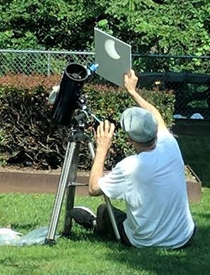 This is not Gary Keller. This is an inventor at the Eclipse August 21, Hudson Valley