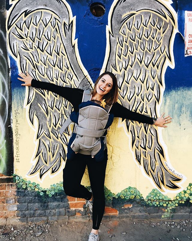 Elly & I got to explore Boise this weekend thanks to my new wings 🐦 • • • @bambonatureusa