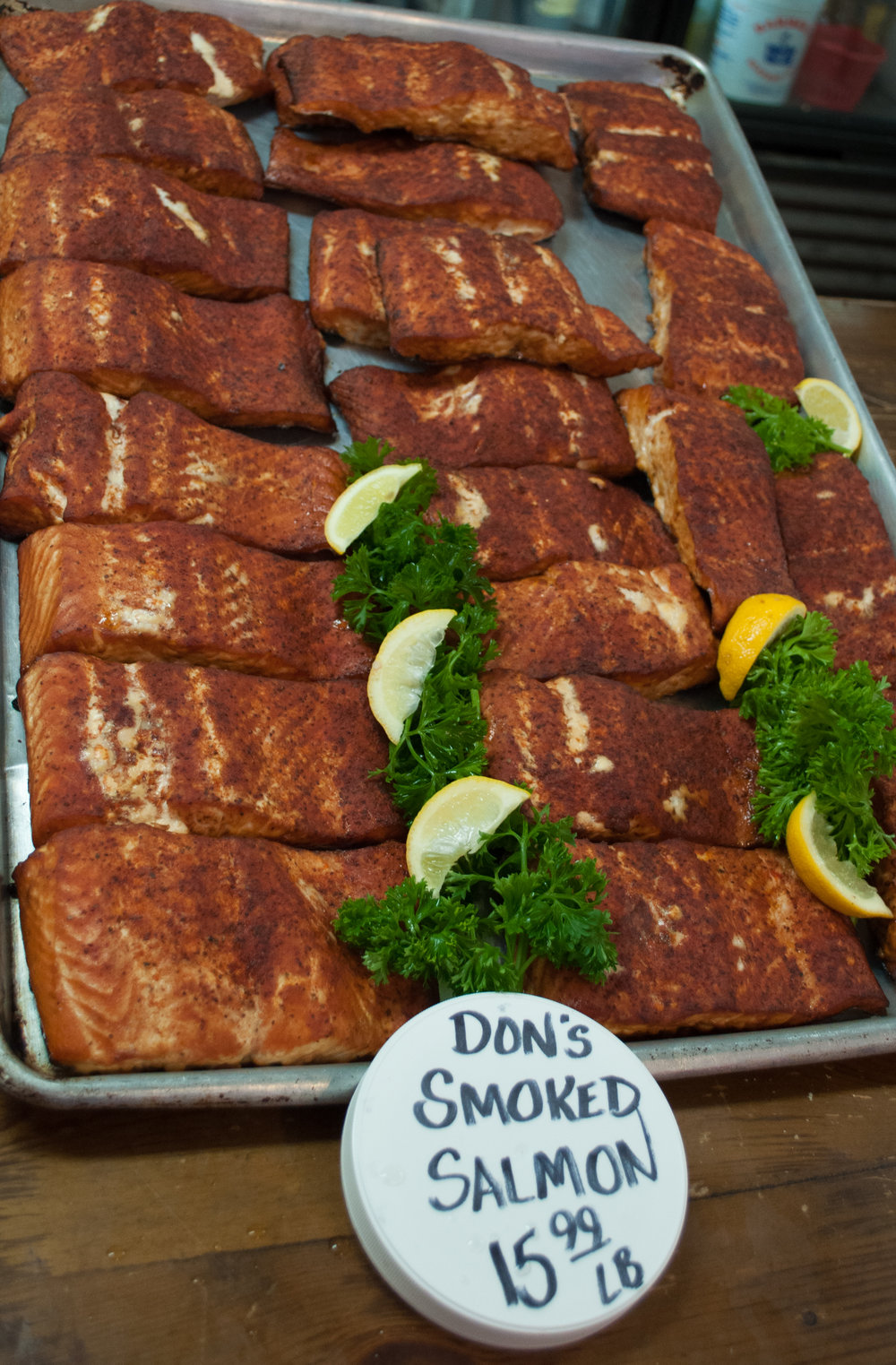 Smoked Salmon made fresh in house every week!