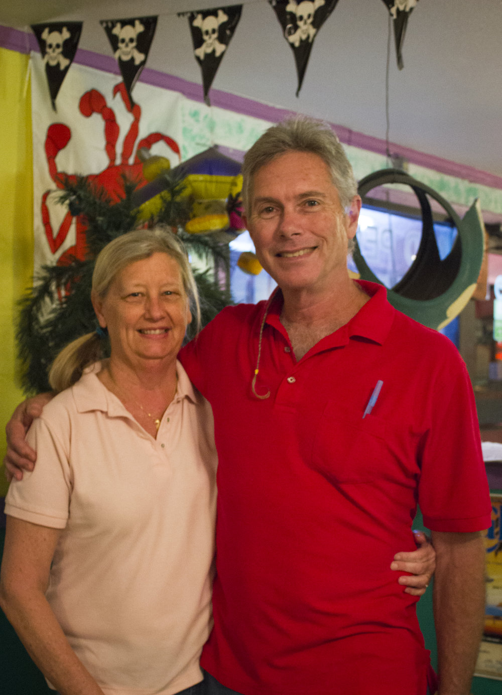 Joan and Don, Owners/Operators of Mid Peninsula Seafood.