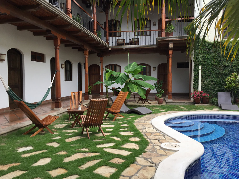 Heaven, in the form of a hotel with air-conditioned rooms, hot water, and a quiet courtyard.