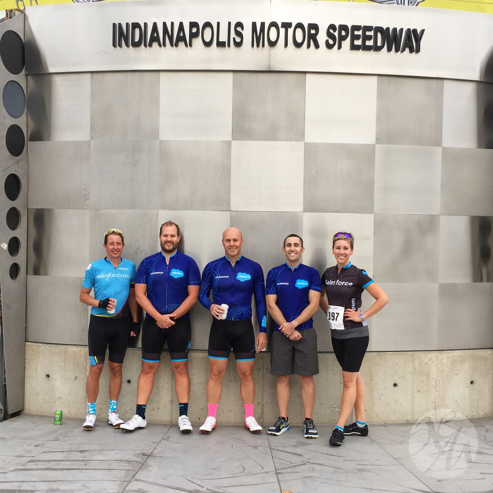 My cycling time trial team! We came in fifth of 20 teams in our division. Not bad at all!