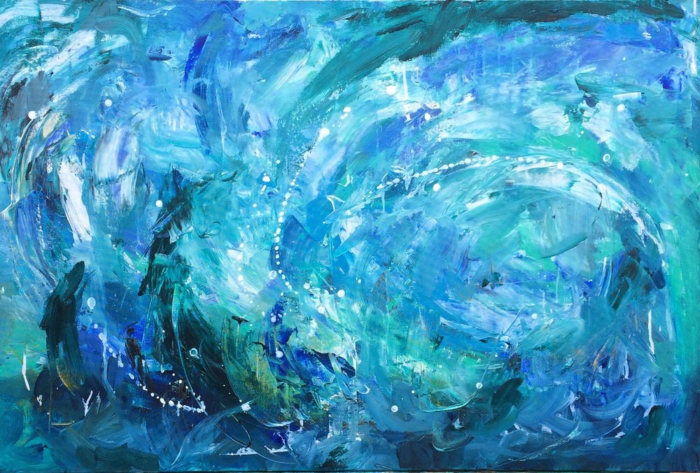 All the Mermaids wore Pearls in their Hair. 60x90cm. Will be for sale on the day!