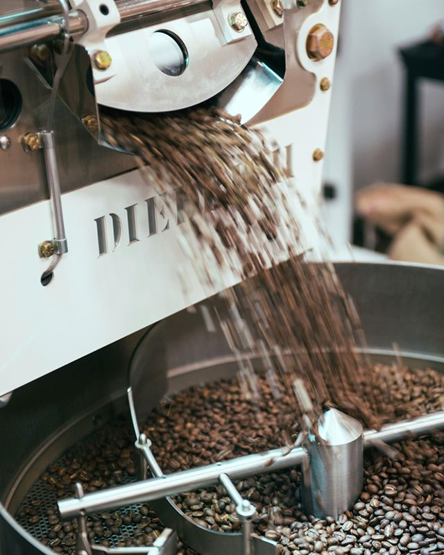 We roast three times a week to ensure all our coffee is fresh and our shelves our stocked. Feel free to stop by Monday, Wednesday, or Friday after 4pm to watch the roasting process and ask us questions. We love to have conversations about our roasting process and the coffees we serve in our shop.