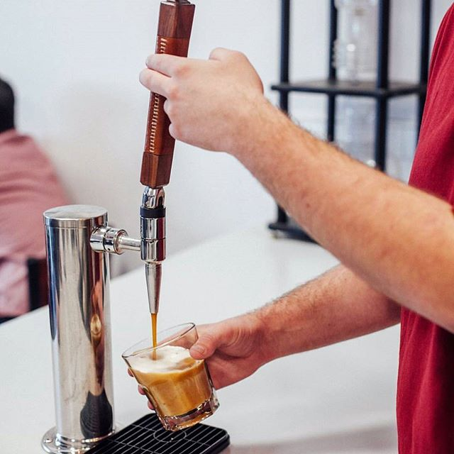 Have any of you wondered why we have a tap? We serve @golfparkcoffee nitro cold brew at our shop. The nitrogen brings a creamy texture to Golf Park's great tasting cold brew. If you haven't had it yet, it is a must try!