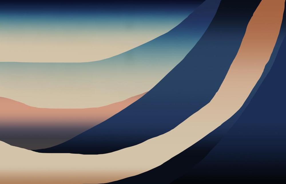 'Landscape Shifted' acrylic airbrush + digital