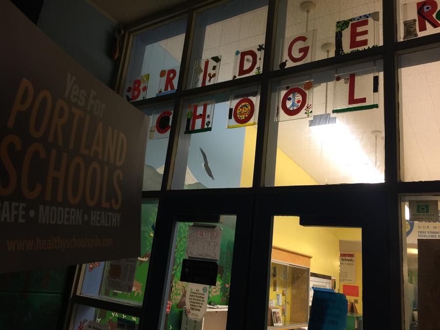 Photo of the Front Door of Bridger Elementary School.