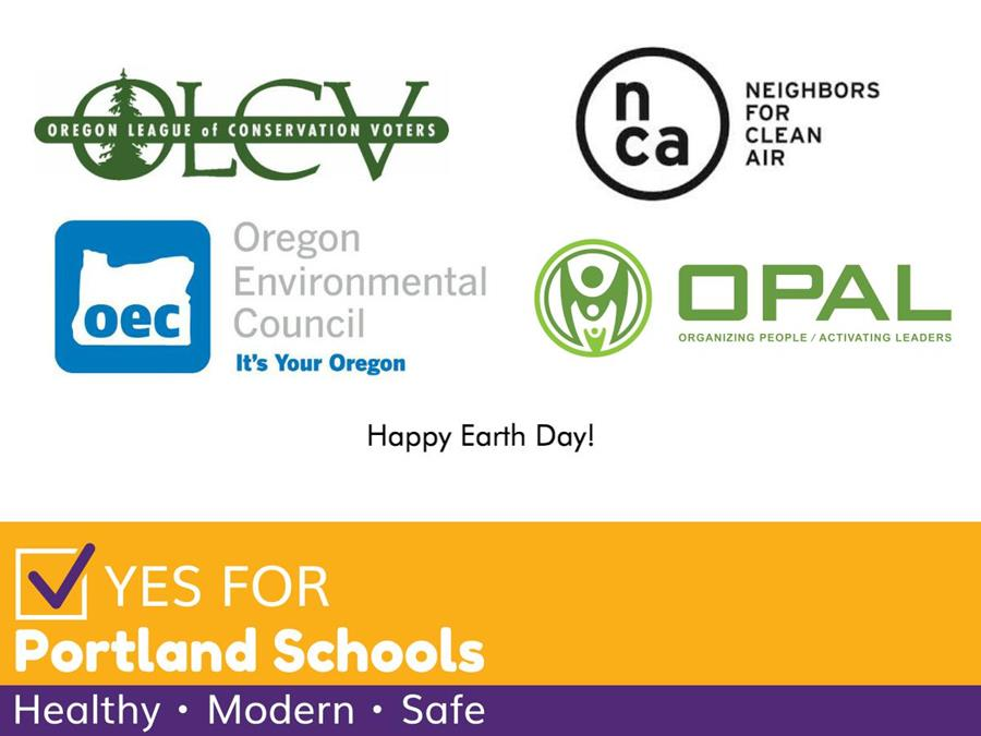 Logos of local environmental organizations who have endorsed the School Bond campaign.