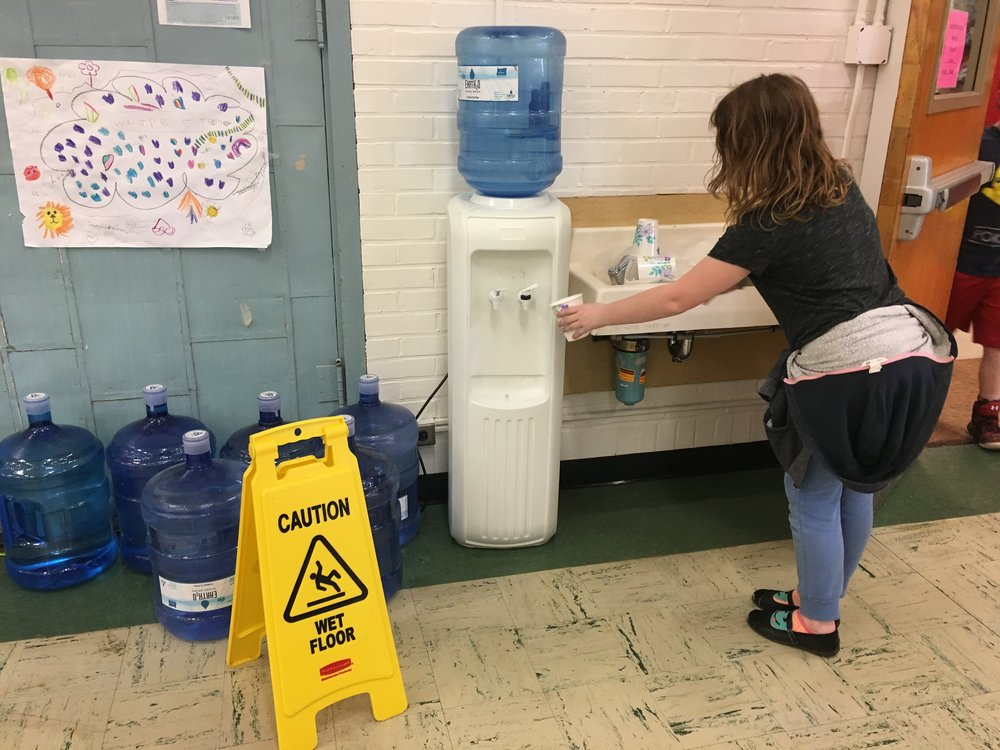 Students at North Portland's James John Elementary are unable to drink water out of their fountains.