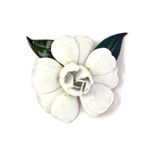 Sandor white enamel flower brooch elle mme sandor white enamel flower brooch mightylinksfo