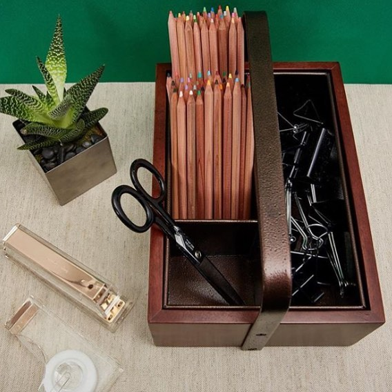 Add a touch of dark and stormy to your office supplies with the Cobble Hill Organizer. #WeAreParadigm