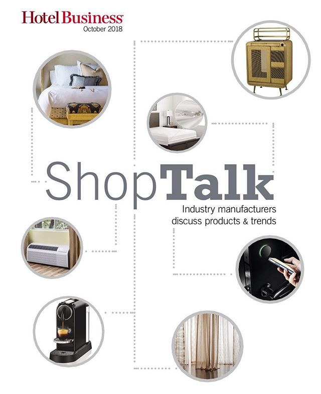 Spotted: Our Sling Fling Tall is featured in the October 2018 issue of hotel business's ShopTalk. #WeAreParadigm #PTHospitality