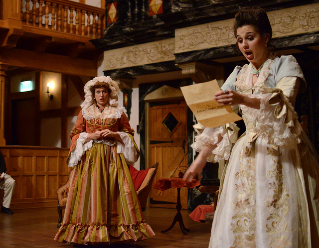 Emily Jeanne Brown as Constance Neville in  She Stoops to Conquer,  American Shakespeare Center, 2013 (Jay McClure)