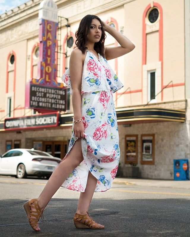 I've been on a break since graduating college, but I'm back! 💃🏽 Here we have my friend @aubsn0b modeling for me in this fashion inspired shoot! Located on the streets in Olympia, Washington. 🖤  #photography #fashion #fashionshoot #fashionphotography #olympia #capitoltheater #pnw #photographer #maxidress #floral #floraldress #beautiful #shoes #modeloftheday #woc #rose #fashiondiaries #fashionmagazine #fashioneditorial #editorialphotography #portraitmood #ftwotw #of2humans #theportraitpr0ject #DiscoverPortrait  #quietthechaos  #featurepalette