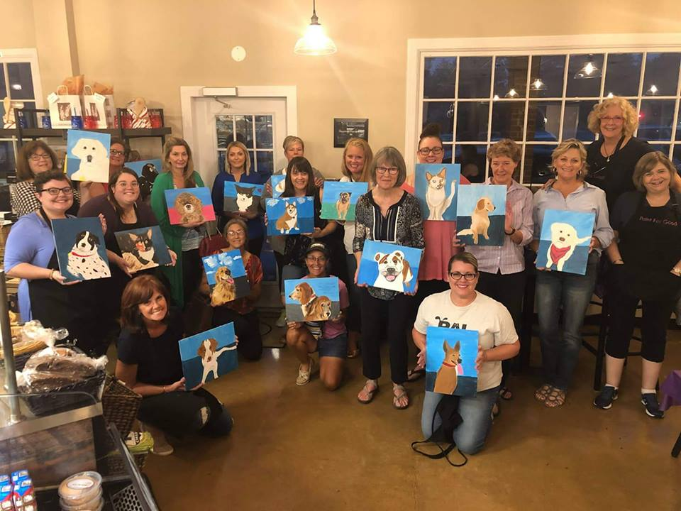 Paint Your Pet Night at Great Harvest Bread Company to benefit the Richmond Animal League.