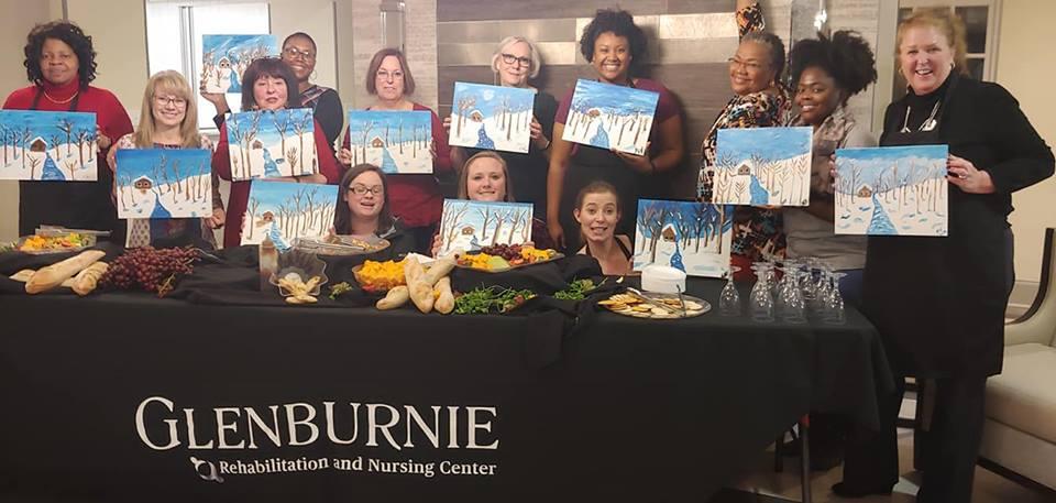 Team-building event at Glenburnie Rehabilitation and Nursing Center
